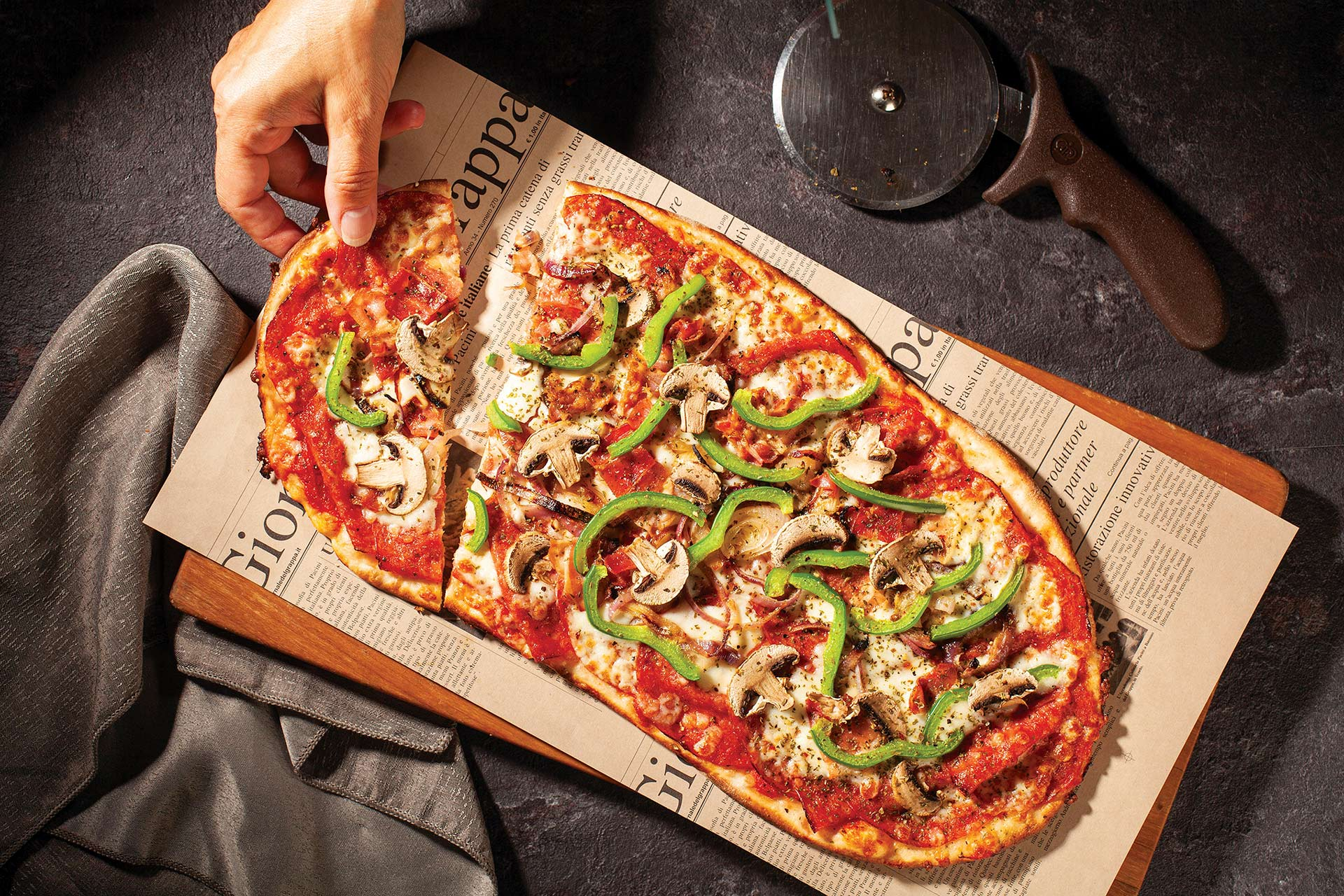 Pacini restaurant italien - Pizza Americana de la Maison